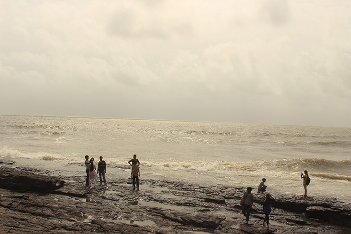 Mumbai Sea view from Bandstand Bandra, Bomay India
