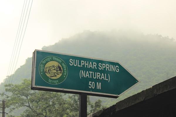Way to Natural Sulphur Springs Sahashtradhara Derhadun
